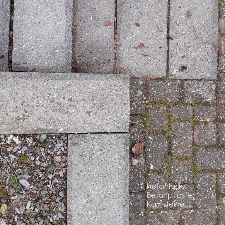 Hofpflaster Ortbeton Betonplatten