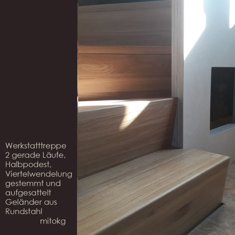 Treppe, Eichentreppe, Werkstatttreppe