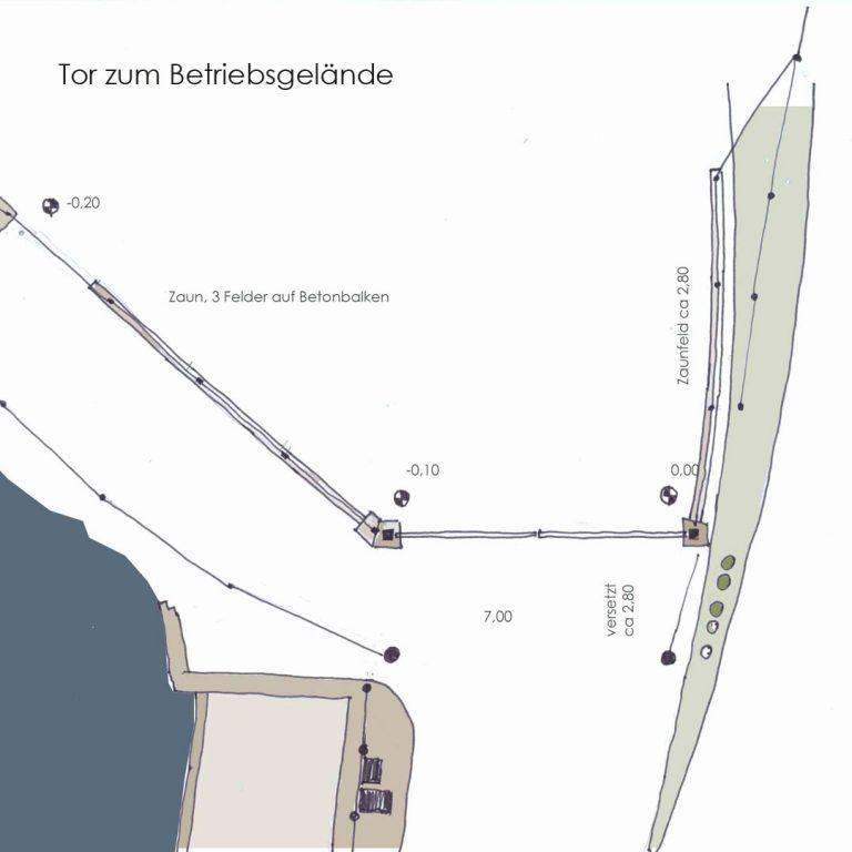 Stahlkonstruktion Schiebetor Drehtor Polyester Laserblech