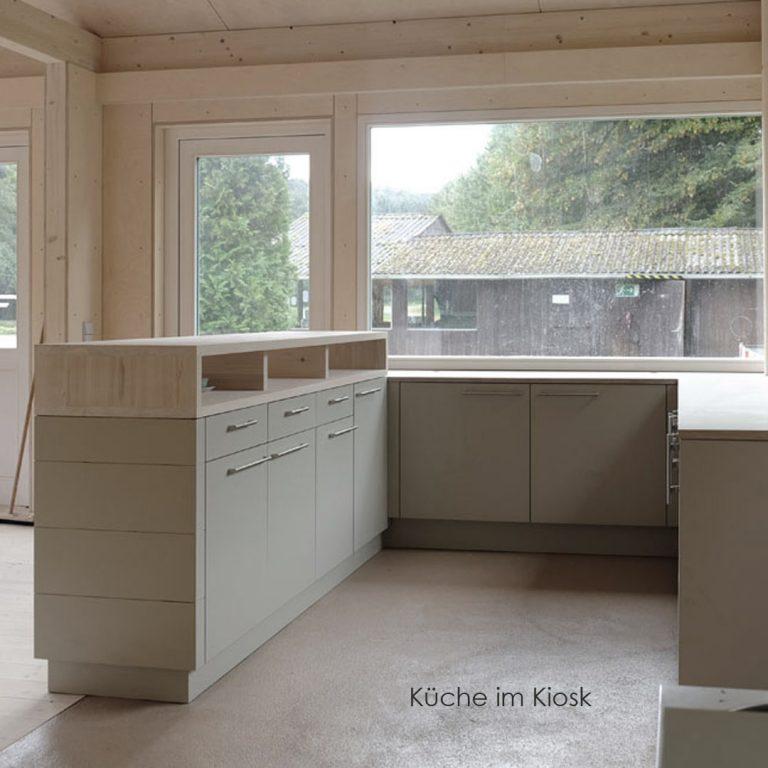 Tiny house Kiosk Angeln Fische Küche Fischhaus Gastraum Holzbau