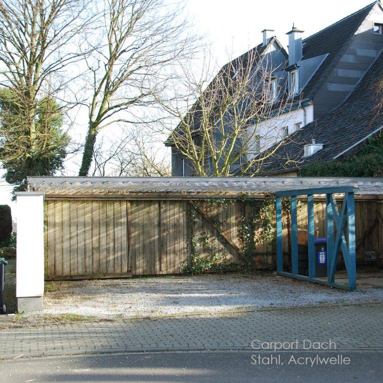 Carport Stahl-Glaskonstruktion