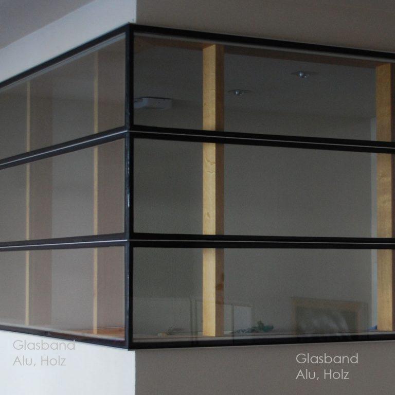 Terrassendach Einhausung Glasanbau Stahl-Glaskonstruktion