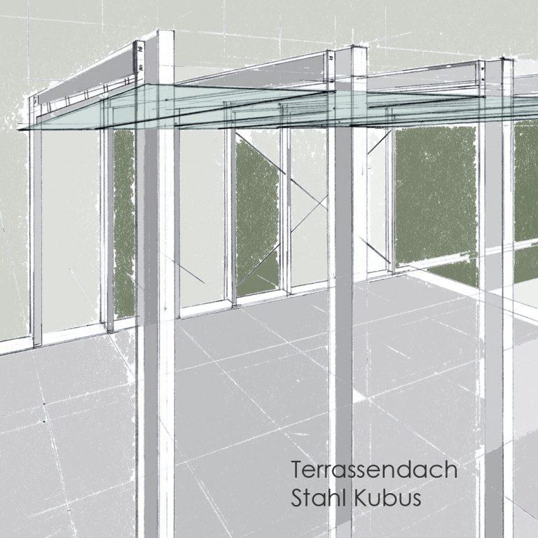 Terrassendach Stahlkonstruktion Glasdach
