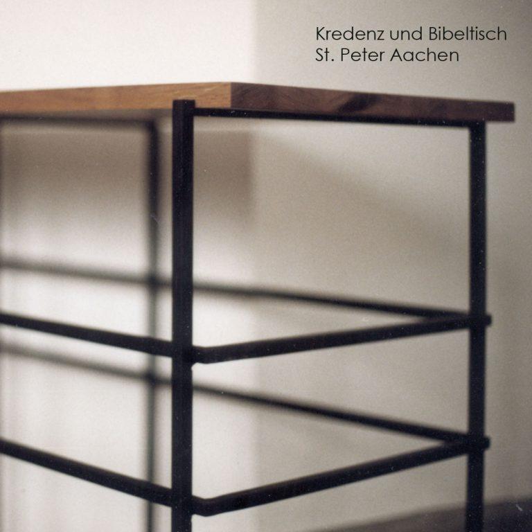 Kirchenmöbel Prinzipalien Handwerkstechnik Tisch Furnier