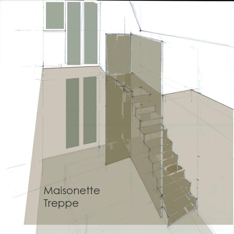 Entwurf Treppenhaus Treppe Geländer Treppengeländer