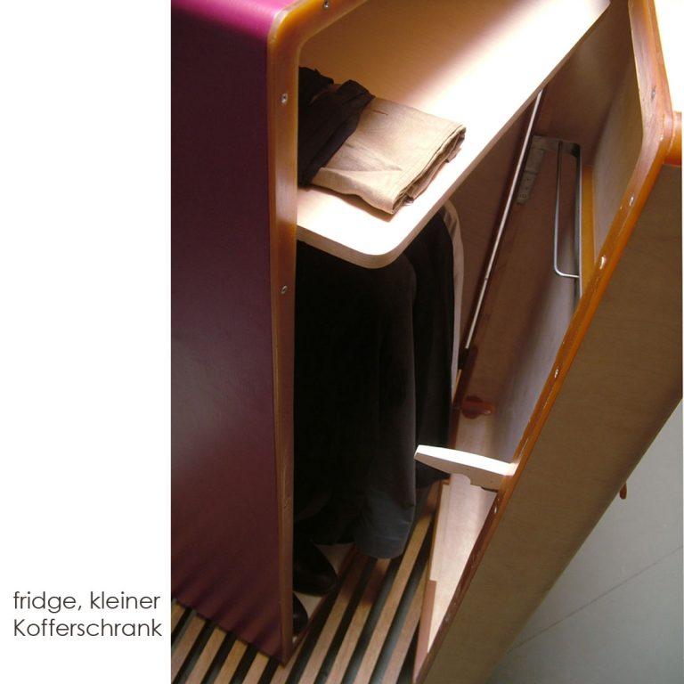 Schrank Formverleimung Kofferschrank Polyester Handwerkstechnik Tisch Furnier